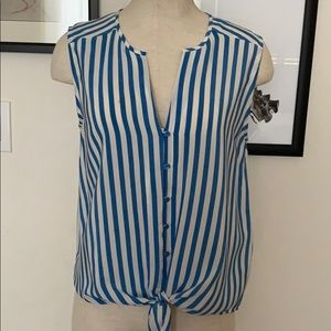 Joie Sleeveless Blouse with tie